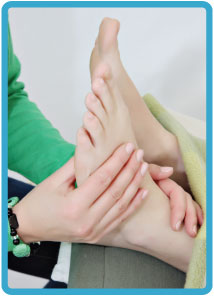 Reflexology - a holistic treatment working on the principle that both the physical and emotional body are reflected on the feet